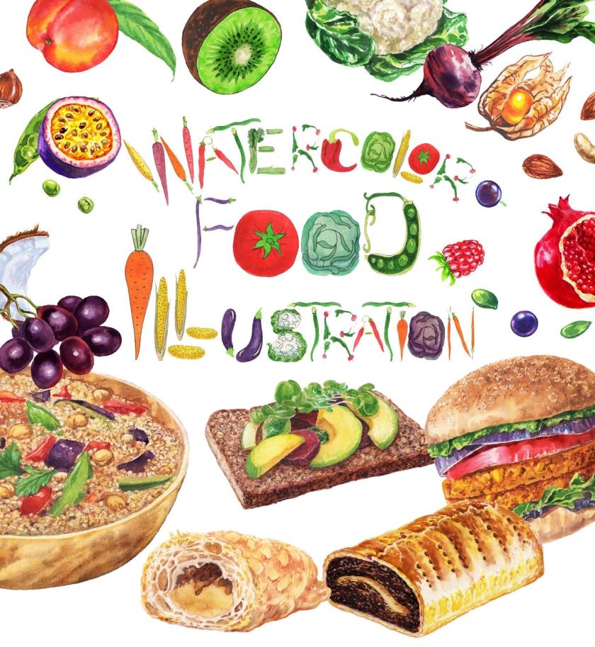 Watercolor Food Illustrations_Artist_Illustrator_Irina_Sztukowski_Watercolour